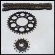 Suzuki GN SPROCKET AND CHAIN SET